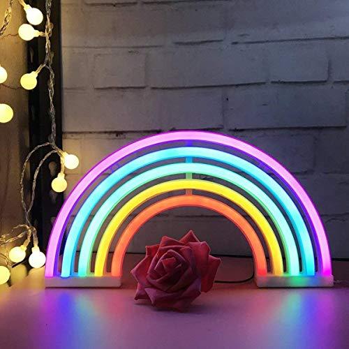Regenbogen LED Leuchtreklamen Kunst Bunte Neon Lampe Nachtlichter Innenwanddekor für Home Party Jubiläum Valentinstag Geschenke Schlafzimmer Dekoration