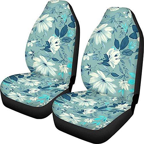 Enoqunt Florals Print Damesmode autostoelhoes Easy Clean Comfort Duurzaam autozitkussen