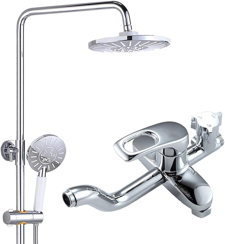 GXQLYHS Feste Sprinkler Hand-Dusche-Set, Bad-Dusche, unter Druck groe obere Spritzpistole, Lift Einstellung Duschkopf - Kupfer, Anzug