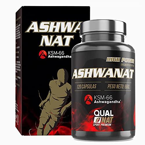 Suplemento Termogenico120 Cápsulas| ashwagandha ksm-66 | Aumentar la masa muscular y el rendimiento deportivo| Suplemento para mejorar la fuerza y la resistencia| QUALNAT