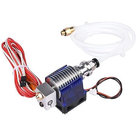 Verilux® E3D V6 Hot End Full Kit 1.75mm 12V Bowden/RepRap 3D Printer Extruder Parts Accessories 0.4mm Nozzle