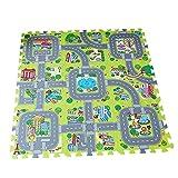 GoolRC Alfombra de Juego de Tráfico Puzzle Espuma Azulejos Entrelazados Niños Alfombra de Juego de Tráfico de Niños Alfombra de Juego Educativa Alfombra de Juego de bebé Juego de Mat
