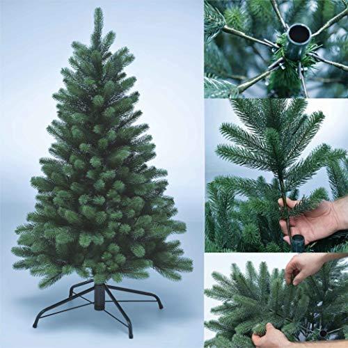 XENOTEC Voll PE Weihnachtsbaum künstlich Höhe ca. 120 cm naturgetreu im Spritzgussverfahren hergestellt