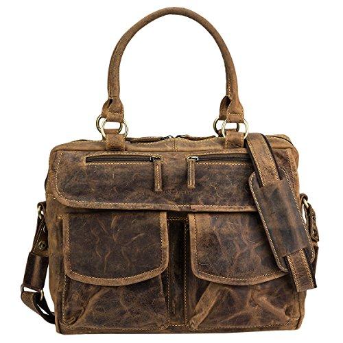 Greenburry Vintage 1830-25 Leder Businesstasche   Handtasche   Handarbeit