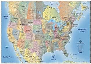 ProGeo Maps Trucker's Wall Map of Canada USA & Northern Mexico Laminated 69