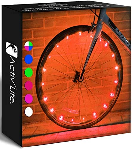 Activ Life LED Bike Wheel Lights 1 Tire Orange Top Birthday Presents for Girls 3 Year Old Teens product image