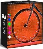 Activ Life Luces LED para Ruedas de Bicicleta (1 neumático, Naranja) Los Mejores Regalos de cumpleaños para niñas de 3 años o más, Adolescentes y Mujeres Los Mejores Regalos para Esposa, mamá