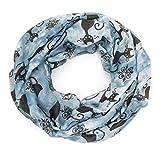 Écharpe ManuMar tube pour femme, motifs chats - Bleu - taille unique