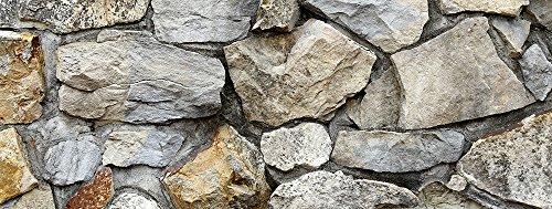 Silver Medley Rock/HD Stone Aquarium Background 21' x 48' / 55 Gallon/Rocky Fish Tank Background