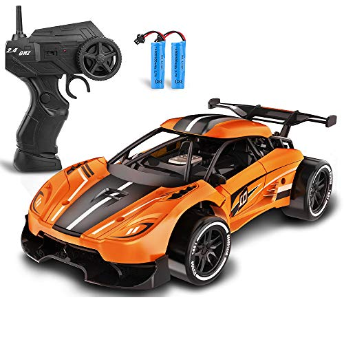 RC Drift Cars for Boys 8-12, iBliver Remote Control Car 1:16 Scale Sports Racing Cars for Girls, Alloy 18 Km/h High Speed 60 Min Electric Vehicle RC Drag Super Cars for Kids and Adult