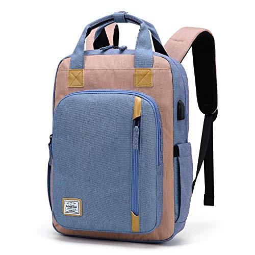 WindTook USB Anschluss Laptop Rucksack Damen Daypack Schulrucksack für 15 Zoll Notebook, Wasserabweisend, Lila