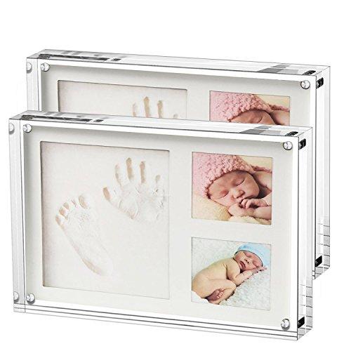 Bilderhalter Acryl, 13 x 9 cm, Glasklar, aus hochwertigem Acryl, 2 Stück, Transparent (5 inch-Horizontal-2 Packs)