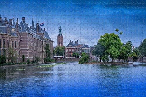Rompecabezas para Adultos Países Bajos Holanda La Haya Holanda Binnenhof Puzzle 1000 Piezas Recuerdo de Viaje de Madera