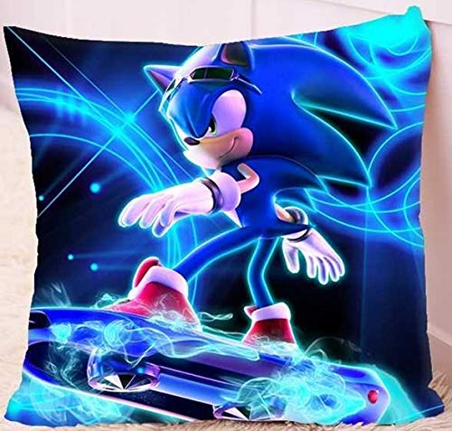 FENGHU Kissen Sonic Sonic The Hedgehog Quadratisches Kissen Kissen Peripheres Sitzkissen Sonic Kid Supersonic Mouse Nap Doll Doll