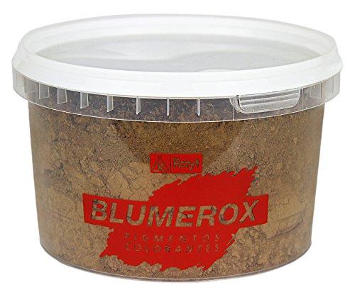 Rayt 1186-71 Blumerox Polvo Cemento Blanco o Gris, Cal y Yeso. Altísimo Poder colorante. Pigmentos de Primera Calidad. Color Pardo Oscuro 08, 450gr