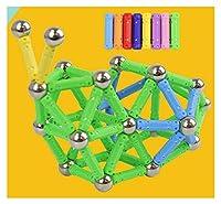ロッドスティックとボールビーズセット、各ユニークなゲームには独自のデザインマジック建設3D DIYラーニングゲームがあります。 green-100rods80balls