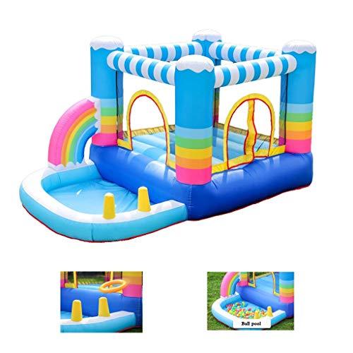 Opblaasbaar kasteel Kinderen Trampoline Children's luchtkasteel Indoor kleine gekleurde Ball Pool Speeltuin Naughty Castle Children's Family Toys (Size : 290x200x225cm)