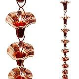 Stanwood Rain Chain Morning Glory Flower Copper Rain Chain,...