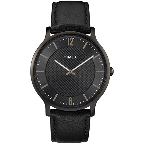 Timex Men's TW2R50100 Metropolitan 40mm Black Leather Strap Watch