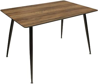 THE HOME DECO FACTORY HD6442 Table de Repas Imitation Bois, MDF, Marron, 115 x 75 x 75 cm