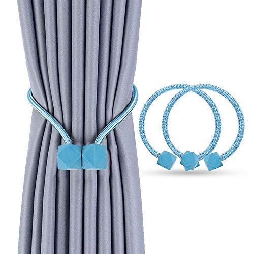 Heatigo Magnetische Vorhang Raffhalter (2 Stück),Stilvoller Vorhanghalter Mit Starken Magnetischen Krawattenklammern, Geeignet für Heim- und Bürodekoration (lanse)