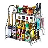OH Immagazzinaggio degli scuotitori di pepe delle bottiglie di condimento diritte dell'organizzatore dello scaffale della cucina