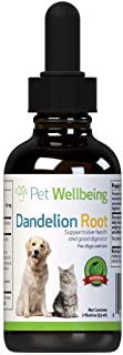 Pet Wellbeing - Dandelion Root for Dogs - All Natural Dandelion Root - Dog Liver, Digestive, and Cardiovascular Support - ...