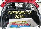 ERGOTECH Rejilla Separador protección para Citroen C3 RDA65-XXS, para Perros y Maletas. Segura, Confortable para tu...