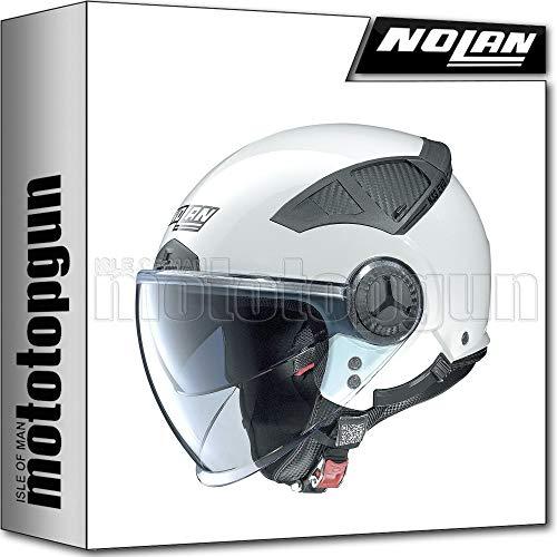 NOLAN CASCO MOTO JET N33 EVO CLASSIC METAL BIANCO 002 TG. XL