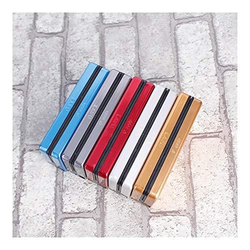 Tonglura All-Abrazing Tubo de la Personalidad Creativa Cigaret Caja Delgada de Metal de Cigarrillos Titular de Cigarrillos Caja de Aluminio Caja de Regalo Disciplinado (Color : Multi-Colored)