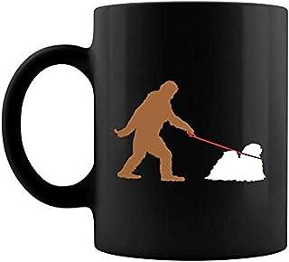 Matongg Bigfoot Walking Lhasa Apso hund Sasquatch premium keramisk kaffemugg lattemugg te kaffekopp Z0O4WV