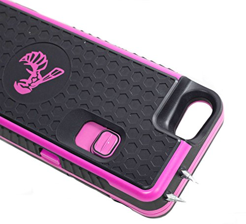 Yellow Jacket High-Powered Stun Gun + Protects, Recharges Your iPhone 7,7s,8,SE + Concealed Inside a Durable Water Resistant Case + Flexibility to Attach or Detach for Maximum Self Defense (Pink)