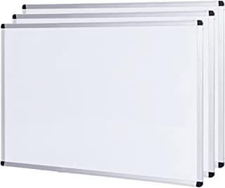 VIZ-PRO 3 Paquetes Pizarra blanca no magnética con marco de aluminio, 600 x 450mm