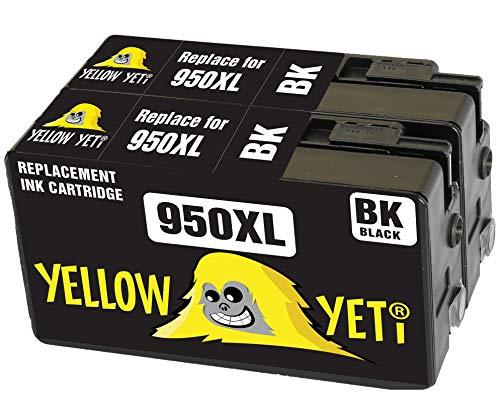 Yellow Yeti Ersatz für HP 950 950XL CN045AE 2 Druckerpatronen Schwarz kompatibel für HP OfficeJet Pro 8600 8610 8620 8100 251dw 276dw 8615 8616 8625 8630 8640 8660