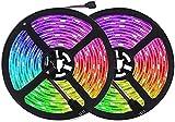 Tiras LED 10m RGB, Tira de Luz LED de 10m con IR Control Remoto, Tiras de Led Flexibles para Decoración de Fiestas de Cocina de Sala