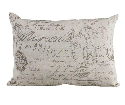 HiEnd Accents Fairfield Printed Linen Pillow