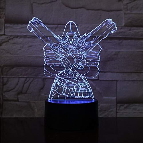 jiushixw 3D acryl nachtlampje met afstandsbediening kleur tafellamp muziekdoos pioneer slaapkamer gebogen tafellamp