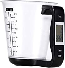Multi-Function Digital Measurement Large Screen Display Kitchen Electronic Measuring Cup, Accurate Measurement, Suitable for Flour Sugar Milk Oil Etc,Black