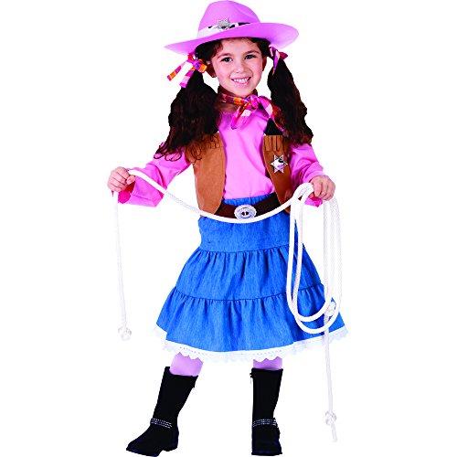 Dress Up America- Disfraz de Vaquera Junior Atractivo, Talla 8-10 años (Cintura: 76-82, Altura: 114-127 cm) (773-M)
