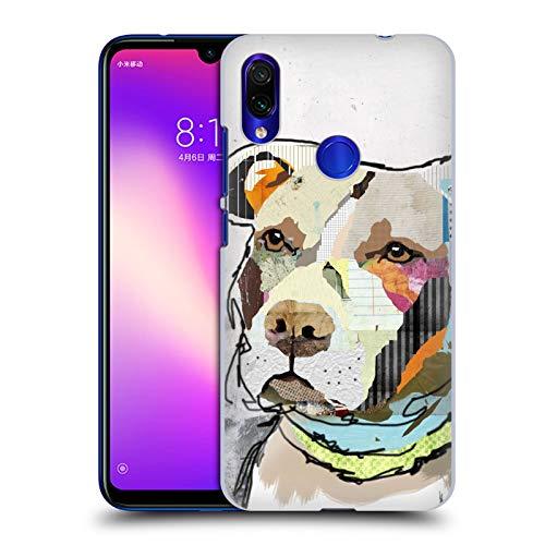 Officiële Michel Keck Pit Bull Honden 3 Hard Back Case Compatibel voor Xiaomi Redmi Note 7/7 Pro