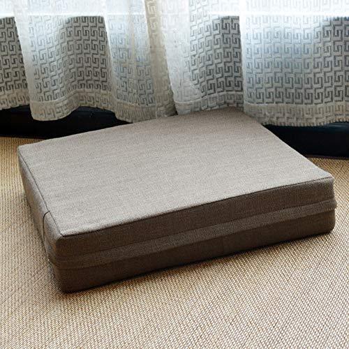Cojín de suelo suave para silla con cremallera, cuadrado, grueso, cojín para silla de jardín, marrón, 40*40*10 cm