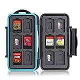 Caja de protección. para 12 Juegos de Nintendo Switch • Estuche para Tarjetas de Memoria • Bolsa de Viaje • Estuche Protector • Caja Fuerte para Tarjetas • Estuche Cartuchos