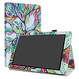 Acer Iconia One 10 B3-A40 Custodia,LiuShan slim Sottile Pieghevole con supporto in Piedi caso per 10.1' Acer Iconia One 10 B3-A40 Tablet,Love Tree
