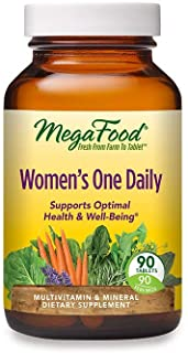 MegaFood - Women's One Daily, Multivitamin Support for Energy Production, Bone Strength, Hormone and Mood Balance with Iro...