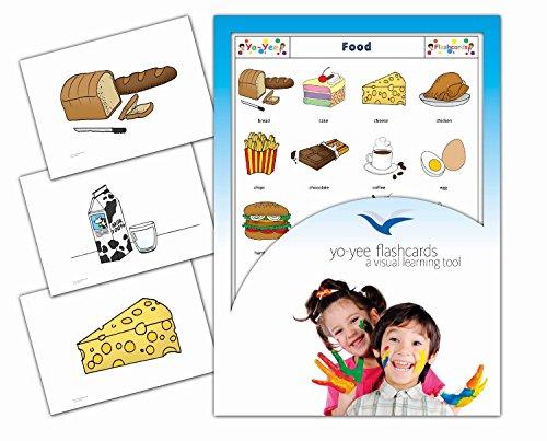 Food and Drinks Flashcards in English - Nahrung und Essen - Bildkarten in Englisch für den Englischunterricht