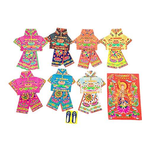 STBD-Chinesisches duftendes Papier, heilige Kleidung, kalte Kleidung, brennendes Papier, Opfer, Ahnen, Meditation, brennendes Papier, Qingming Festival