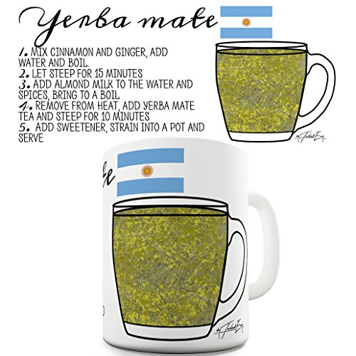 TWISTED ENVY Tea ricetta Yerba Mate Tea Ceramica Tazza Divertente