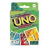 Mattel Games UNO versión Eco-Sostenible, Juego de Cartas de Material 100% reciclable, Regalo 7 + años, GTH23