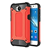 FLHTZS Funda Huawei Nova Young Mya-L11 Carcasa Caja de teléfono móvil, combinación TPU + PC, Hermosa Mano de Obra(Rojo)