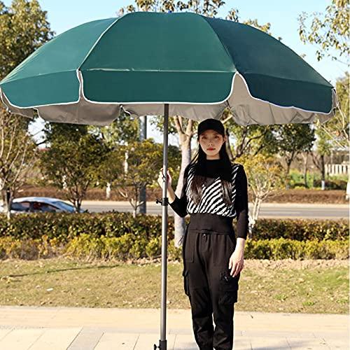 Outdoor Sunshade Sun Umbrella, Made of Stainless Steel Patio Umbrella Uv Protection Silver Plastic Umbrella Suitable for Outdoor Garden Deck Beach Furniture 9.84 Feet